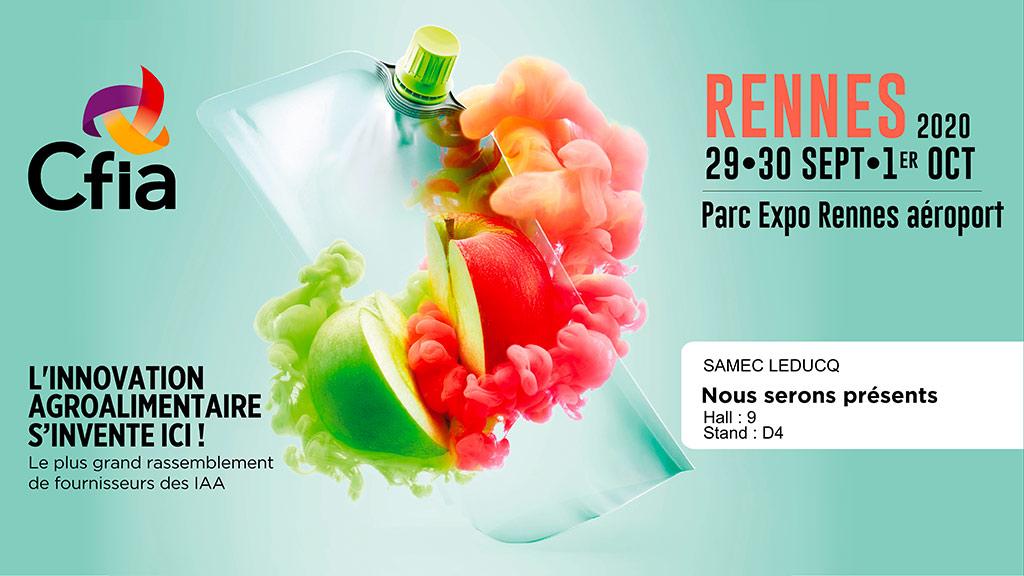SAMEC au salon CFIA 2020 de Rennes
